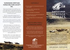 Brochure Kaimanawas Image 2013