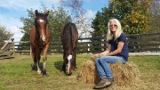 Sue Rivers (website): Sue works as a therapeutic riding instructor and has a passion for connecting children and horses. She has long history with kaimanawa horses and has several on her team.